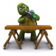 Royalty-Free Stock Photo: Tortoise with a power saw