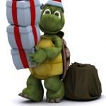 Tortoise santa character — Stock Photo #9288083