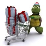 Tortoise santa character — Stock Photo #9288325