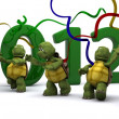 Tortoises Bringing the new year in — Stock Photo