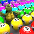 Royalty-Free Stock Photo: Tortoise with bingo balls