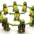 Tortoise leading a team — Stock Photo