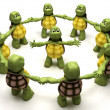 Tortoise leading team — Stock Photo #9289990