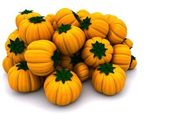 Uncarved holiday pumkins — Stock Photo