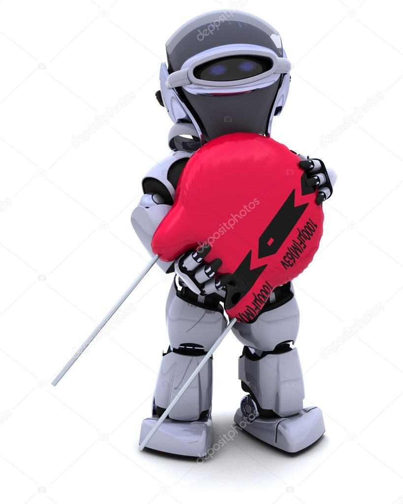 3D Renderof a Robot with a Capacitor  Stock Photo #9284782
