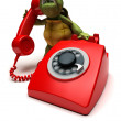 Tortoise with a telephone - Photo