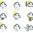 Weather icon set no 2 — Stock Photo