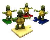 龟上拼图碎片 — 图库照片