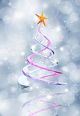 Abstract Christmas tree background — Stock Photo