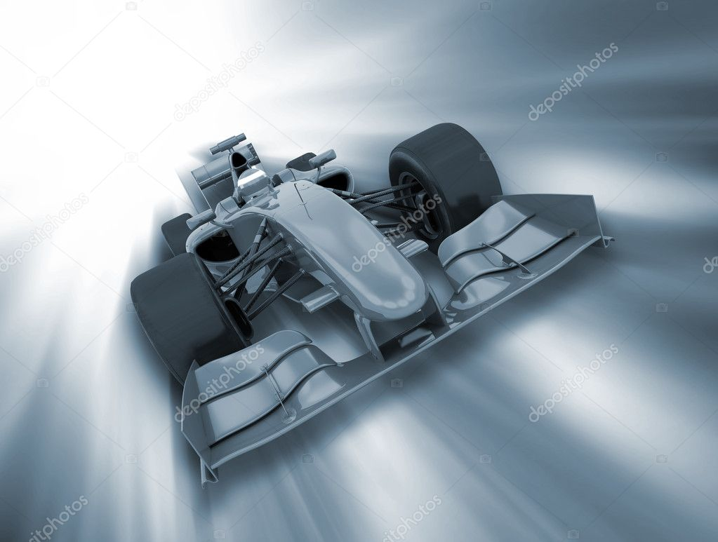 3D render of a formula one car on a motion background  Stock Photo #9295570