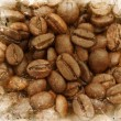 Stock Photo: Grunge coffee beans background