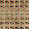Grunge Polka Dots Background - Stock fotografie