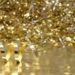 Gold Christmas background — Stock Photo