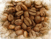 Grunge coffee beans background — Photo