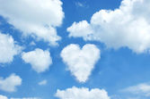 Heart cloud — Stock Photo