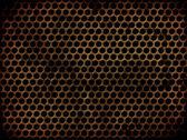 Grunge 穿孔金属 — 图库照片