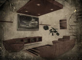 Grunge-interieur — Stockfoto