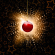 Abstract christmas baubles — Stock Photo