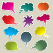 Brightly coloured speech bubbles — Stock Photo