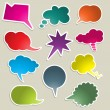Stock Photo: Brightly coloured speech bubbles