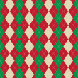 Christmas argyle pattern — Foto Stock