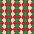 Постер, плакат: Christmas argyle pattern