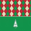 Christmas tree argyle pattern background - Stock Photo