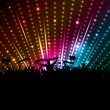 Foto Stock: Disco crowd background