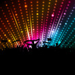 Stock Photo: Disco crowd background