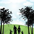 Family walking outside — Stock Photo #9355206