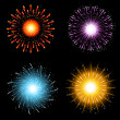 Fireworks collection — Stockfoto
