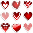 Heart stickers - Foto de Stock