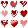 Royalty-Free Stock Photo: Heart stickers