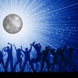 Party on disco background - Foto Stock
