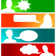Royalty-Free Stock Photo: Avatars with speech bubbles