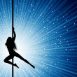 Foto Stock: Pole dancer