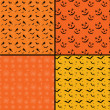 Seamless tile Halloween backgrounds — Stockfoto