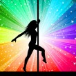 Sexy pole dancer — Stock Photo #9359456