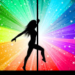 Sexy pole dancer — Stock Photo
