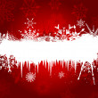 Snowflake and Icicle background - Stock Photo