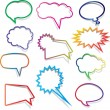 Speech bubbles collection — Stock Photo #9359697