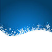 Blue snowflake background — Stock Photo