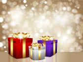 Christmas gift background — Stock Photo