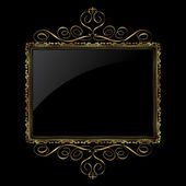 Decorative gold and black frame — Stock Photo