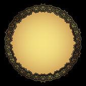 装飾的なゴールド フレーム — ストック写真