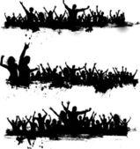 Grunge πλήθη που διασκεδάζουν — Φωτογραφία Αρχείου