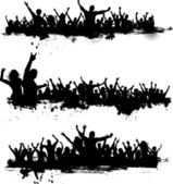 Grunge partij menigte — Stockfoto