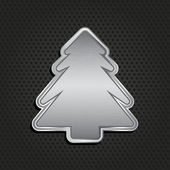 Metallic christmas tree background — Stock Photo