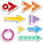 Scribbled arrow designs — Stock Photo