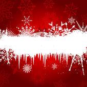 снежинка и сосулька фон — Стоковое фото